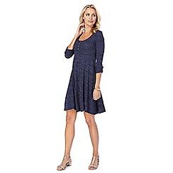 Mantaray - Blue textured stripe swing dress