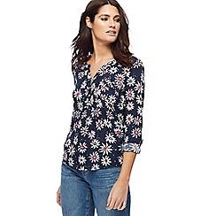 Mantaray - Navy floral print shirt