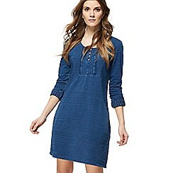Mantaray - Blue mini tunic dress
