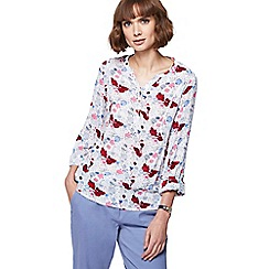 Mantaray - White floral print shirt