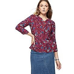 Mantaray - Red floral print shirt