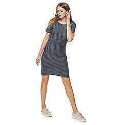 Mantaray - Blue striped mini tunic dress