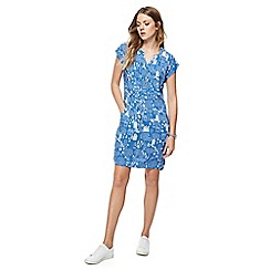Mantaray - Blue house print mini tunic dress
