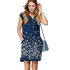 Mantaray - Navy floral print mini tunic dress