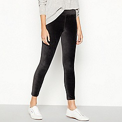 Mantaray - Dark Grey Corduroy Leggings