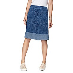 Mantaray - Navy spotted jersey skirt