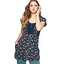 Mantaray - Navy bird print tunic
