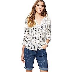 Mantaray - Off white doodle print shirt