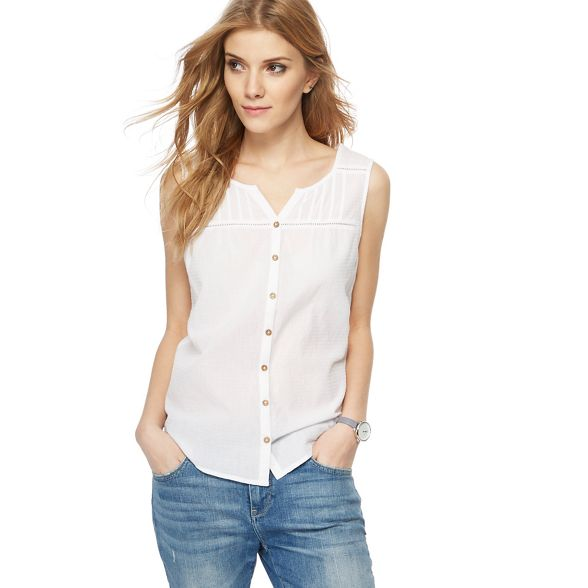 top White notch textured neck Mantaray ZqTIFOn