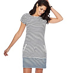 Mantaray - Light turquoise striped mini tunic dress