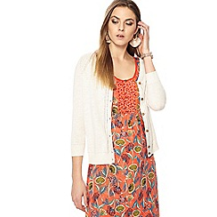 Mantaray - Cream three quarter sleeves cardigan