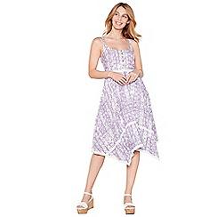Mantaray - Lilac printed cotton knee length dress