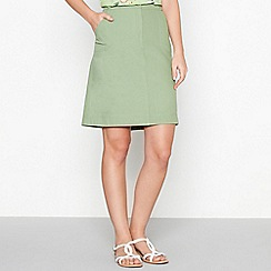 Mantaray - Green canvas cotton a-line skirt