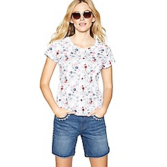 Mantaray - White floral print top
