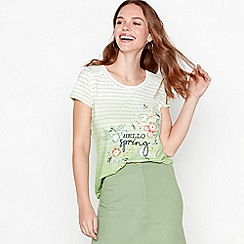 Mantaray - Green stripe print ombre cotton t-shirt