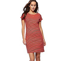 Mantaray - Dark peach striped mini tunic dress