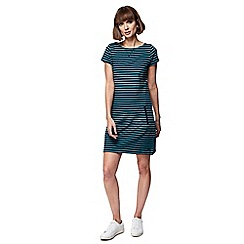 Mantaray - Green stripe cap sleeve tunic dress