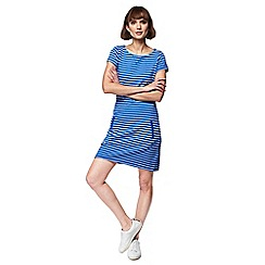 Mantaray - Bright blue stripe cap sleeve tunic dress