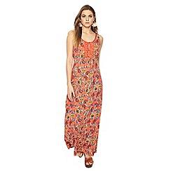 Mantaray - Orange floral print maxi dress