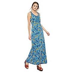 Mantaray - Dark blue floral print maxi dress