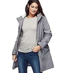 Mantaray - Grey rubberised hooded coat