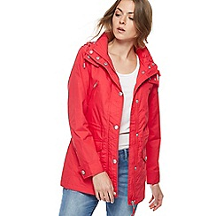 Mantaray - Red shower proof hooded jacket
