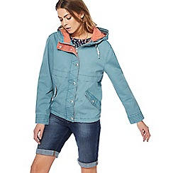Mantaray - Dark turquoise washed jacket