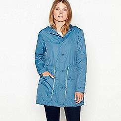 Mantaray - Dark blue jersey showerproof parka jacket