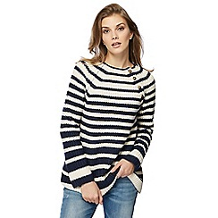 Mantaray - Navy wool blend striped jumper