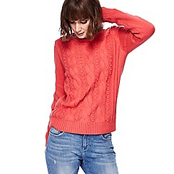 Mantaray - Coral textured jumper