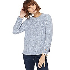 Mantaray - Light blue cable knit chenille jumper