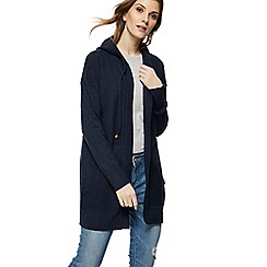 Mantaray - Navy hooded longline cardigan