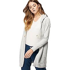 Mantaray - Grey hooded longline cardigan