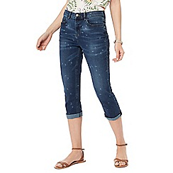 Mantaray - Dark blue blue mid wash denim cropped jeans