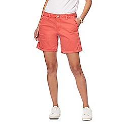 Mantaray - Coral chino shorts