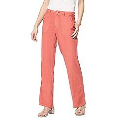 Mantaray - Orange linen blend wide leg trousers