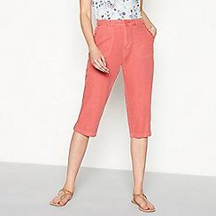Mantaray - Orange linen blend cropped trousers