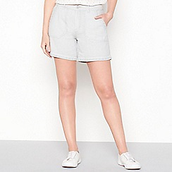 Mantaray - Grey linen blend cargo shorts