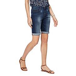Mantaray - Dark blue wash denim shorts