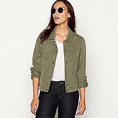 Mantaray - Khaki cropped jacket