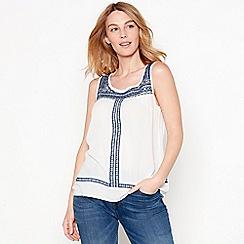 Mantaray - Off white embellished sleeveless top