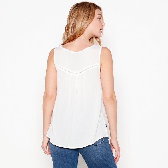 Off sleeveless top white Mantaray embellished ngqZTRZx