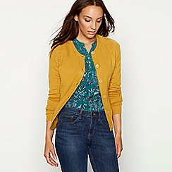 Mantaray - Dark yellow button through cardigan