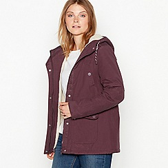 Mantaray - Dark rose showerproof hooded jacket