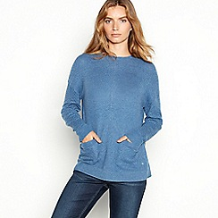 Mantaray - Blue cable knit pocket jumper