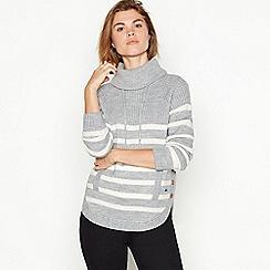 Mantaray - Grey striped wool blend jumper