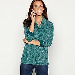 Mantaray - Green fleck cowl neck sweater