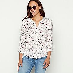 Mantaray - White floral print shirt