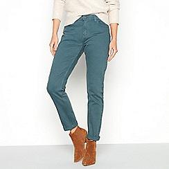 Mantaray - Dark green cotton blend 'Croyde' slim leg jeans