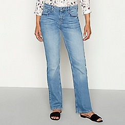 8e2eb66aa5706 Mantaray - Light wash denim bootcut jeans